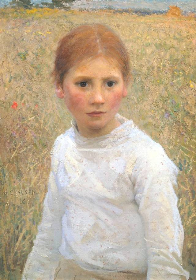 Brown Eyes 1891 by Sir George Clausen 1852-1944
