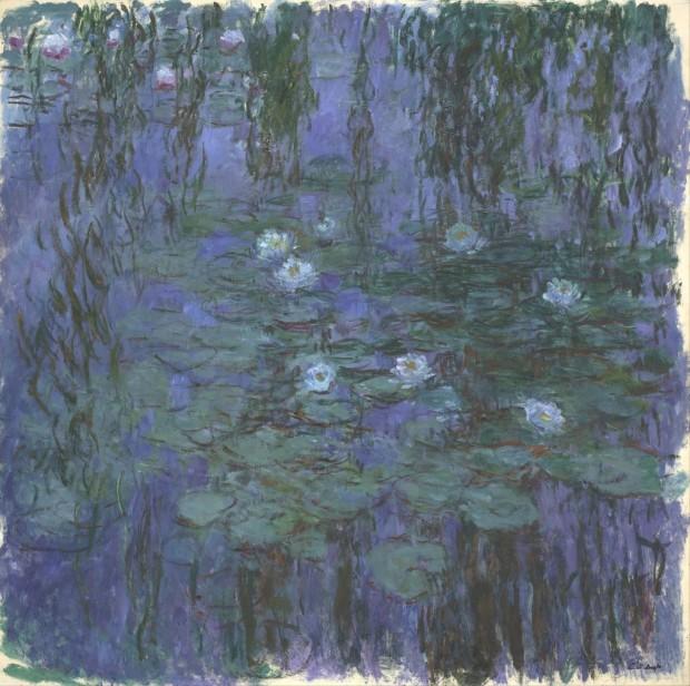 claude-monet-blue-water-lilies-1916-1919