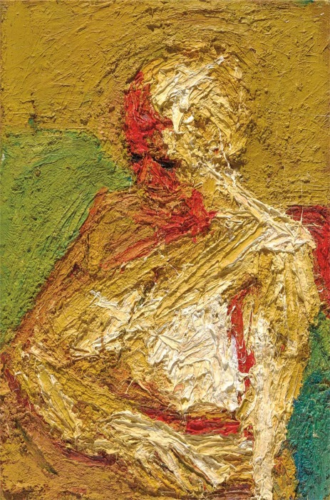 Frank Auerbach E.O.W. half-length nude 1958 Private collection courtesy of Eykyn Maclean LP © Frank Auerbach, courtesy Marlborough Fine Art Photo: Douglas M. Parker Studio