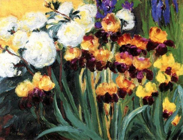 Peonies and Irises Emile Nolde 1936